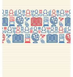 Back to School seamless pattern background vector image vector image