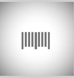 bar code icon simple bar code pictogram vector image vector image