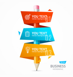 business infographic pencil banner card vector image vector image