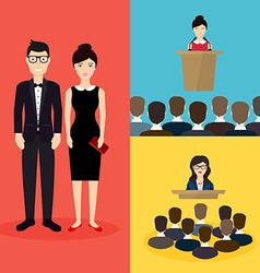 Business people social network and social media vector