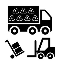 logistic delivery and vector image