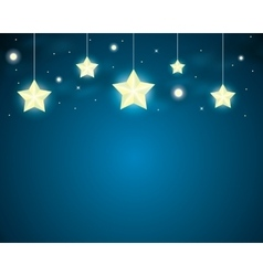 stars on a string vector image vector image
