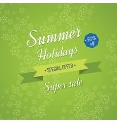 Summer holidays background sale banner vector