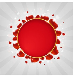 Valentines Day With Hearts And Sunburst vector image vector image