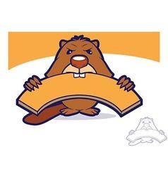 Beaver Wood vector image vector image