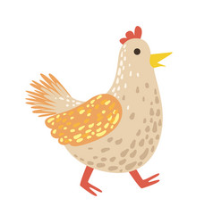 chicken cute toy animal with detailed elements vector image vector image