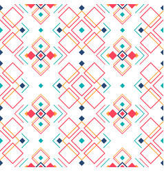 Geometric seamless pattern with ethnic ornament vector