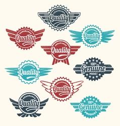 Retro vintage label Badge Set vector image vector image