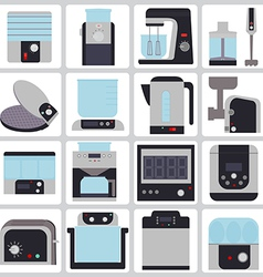 set of icons of small household appliances for the vector image vector image