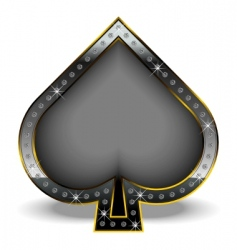 spade with diamonds vector image