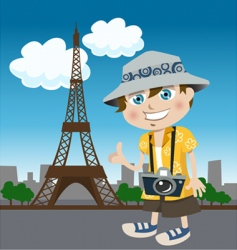 tourist guy vector image