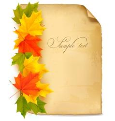 vintage autumn background vector image