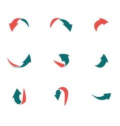 Arrows 2d green red p2 vector
