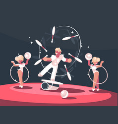 artist juggler in circus arena vector image vector image