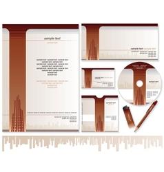 Business Card Brochure Envelope Design Templates vector image