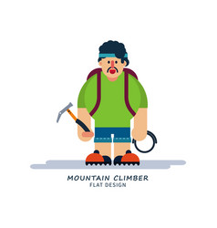 climber in cartoon style vector image