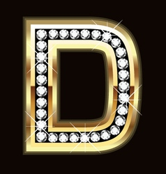 d bling vector image vector image