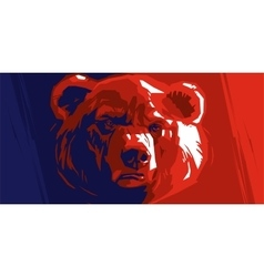 Abstract angry bear vector image