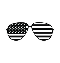 american flag glasses icon vector image
