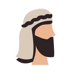 Arabian man head design vector