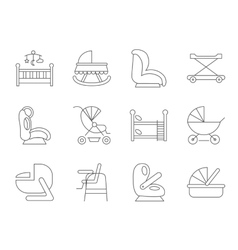 Baby furniture vector image