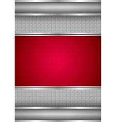 background template metallic texture red blank vector image
