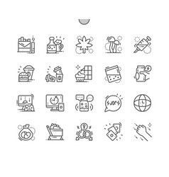 bad habits well-crafted thin line icons vector image