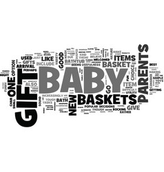 bagift baskets are hottest gifts you can vector image