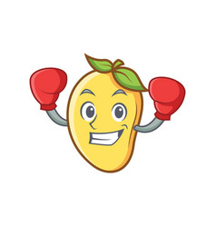 Boxing mango character cartoon mascot vector