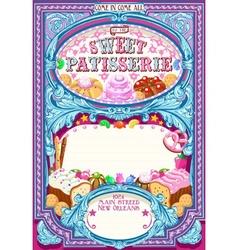 Candy Shop Invitation Vintage vector