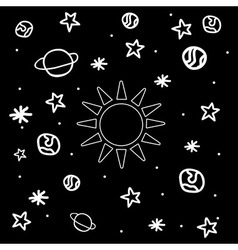 Cartoon space icons vector image