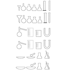 Chemical utensils white vector