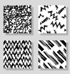collection monochrome grange seamless textures vector image