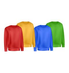 colors mans clothing set sweatshirt and raglan vector image
