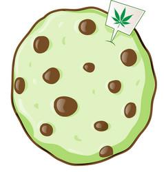 cookie with marijuana flavor vector image