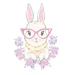 cute bunny girl with crown dream big princess vector image