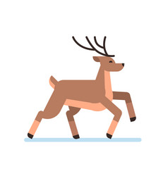 deer cartoon animal reindeer flat isolated vector image