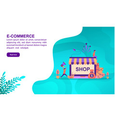 E commerce concept with character template for vector