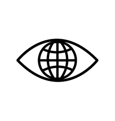 Eye global look vision optical icon vector