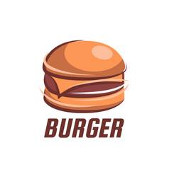 fast food retro emblem vector image