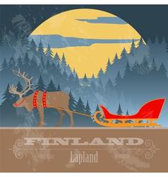 Finland landmarks Retro styled image vector image