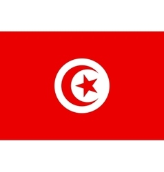 Flag of Tunisia in correct proportions and colors vector