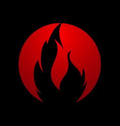 flame logo fire icon fire logo design vector image