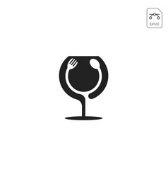 food and drink logo design inspiration isolated vector image