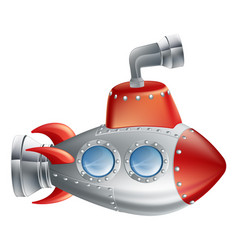 fun cartoon submarine vector image