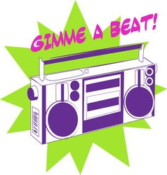 Gimme a beat vector