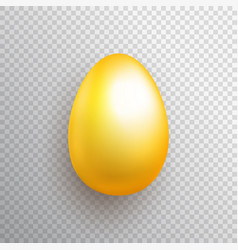 golden egg made with gradient mesh on transparent vector image