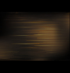 golden square pattern on dark background vector image