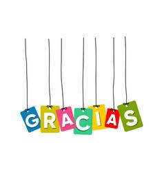 gracias greeting card vector image