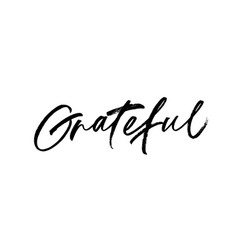 grateful phrase lettering vector image
